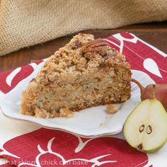 Pear Streusel Coffee Cake | #SundaySupper