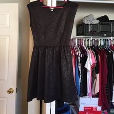 Black paisley dress Black no sleeve dress with a paisley design Dresses Mini
