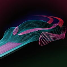 Concept test // AerodynamicsA concept test in how to show the aerodynamics of a car in a visual and graphic way. The idea was to make the air flow look like a symphony of light beems. Car Design Sketch, 3d Design, Line Patterns, Textures Patterns, Speed Form, Car Ui, Amphibious Vehicle, Dynamic Design, Vintage Graphic Design