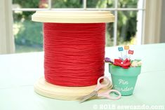 Sew Can Do: DIY Giant Thread Spool Canister: The Perfect Craft Room Decor!