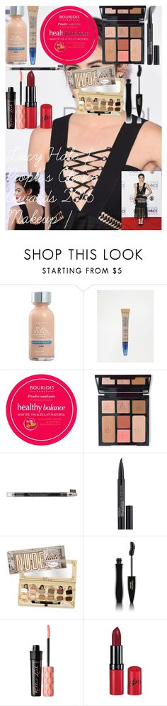 Lucy Hale | People's Choice Awards 2016 Makeup | by oroartye-1 on Polyvore featuring beauty, Charlotte Tilbury, Lancôme, Smashbox, Benefit, Rimmel, L'Oréal Paris, Bourjois and Microsoft