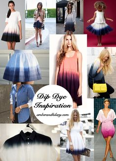 Amber and Hilary: DIY Faded Dip-Dye