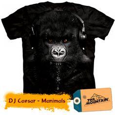 Camiseta - The Mountain - Gorilla DJ Caesar 3d T Shirts, Cool T Shirts, T Shirts For Women, Mountain Gorilla, Mountain Man, Zebras, Harley Davidson, Safari, Fab Life