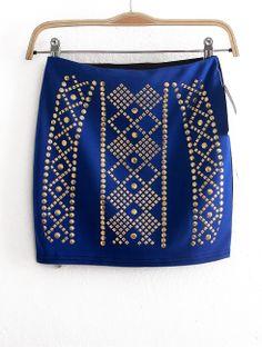 Falda body tachuelas azul EUR€16.30