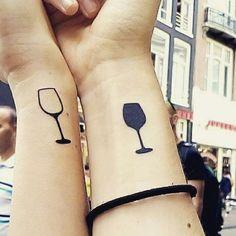 Wine tattoo - matching tattoo