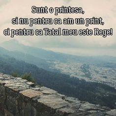 Sunt o prințesă, și nu pentru că am un prinț, ci pentru că Tatăl meu este Rege! Bless The Lord, Funny Memes, Sayings, Quotes, Photography, Quotations, Photograph, Lyrics, Fotografie