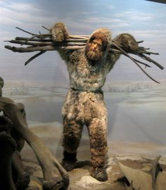 Ice age man at Manhattan's Museum of Natural History.