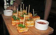 fancy tea sandwich - close up of the lobster grilled cheese sandwich ...