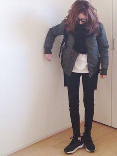 mayumiさんのミリタリージャケット「SEA VINTAGE MA-1」を使ったコーディネート