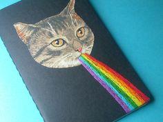 kitten awesome pocket journal. $16.00, via Etsy.