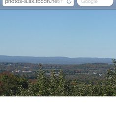 Up on a mountain in Warwick, NY on an apple orchard.... I was in love with the views from there.