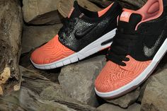 The Premier x Nike SB Fish Ladder pack releases this week! Boasting scaly  black suede and patterned pink leather 49626bd4d
