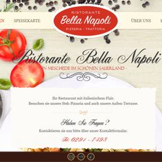 Website of the month June in Duesseldorf is this mouth-watering site of an Italian restaurant: http://bellanapoli-meschede.de/