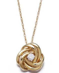 Great deal! Wrapped in Love Diamond Necklace, 14k Gold and Diamond Love Knot Pendant (1/10 ct. t.w) Jewelry & Watches Fine Jewelry - Necklaces'