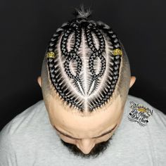 Cornrow designs for men Check out these braid styles for men including cornrows, box braids, zig zag braids, 2 braids and braided dreadlocks. Cornrow Styles For Men, Cornrow Hairstyles For Men, Black Men Hairstyles, Cool Braid Hairstyles, Hair Styles, Hairstyles 2018, Boy Braid Styles, Kids Hairstyle, Bangs Hairstyle