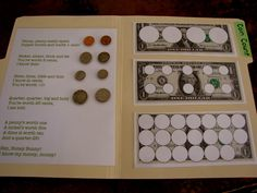 Coin Values file folder game (totally doing this this week!!)