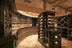 Wine cellar this non traditional wine cellar featuring a for Villa maria interior design