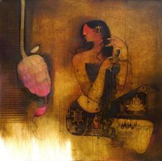 Amol Pawar just got sold through IndianArtCollectors. Art And Illustration, India Painting, Figurative Kunst, Artwork Online, Indian Artist, Cat Art, Painting Inspiration, Drawings, Paintings