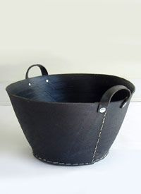 Recycled tire tote.  Too big for my purposes, but- HOW. FUN!