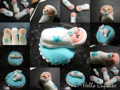 Ickle baby boys cupcakes :)