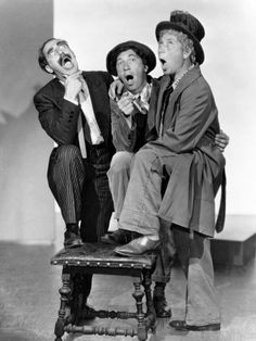 Groucho, Chico and Harpo Marx Harpo Marx, Hollywood Actor, Golden Age Of Hollywood, Vintage Hollywood, Classic Hollywood, Hollywood Icons, Hollywood Stars, Classic Comedies, Classic Films