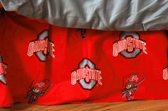 Ohio State Buckeyes Printed Dust Ruffle (Full): This College Covers brand Dust Ruffle is constructed… #Sport #Football #Rugby #IceHockey