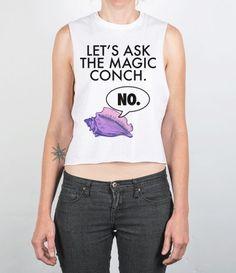 ask the conch | chopped tee #sponge #sassy #sass #funny #magic