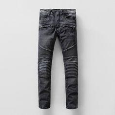 10f78fdbc61 Fashion Jeans Men Denim Trousers Runway Biker Skinny Slim Cowboy Famous  Brand Zipper Fly Designer Men s Pants Plus Size 28-38 58ob