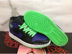 http://www.getadidas.com/air-jordan-1-black-purple-green-offres-spciales.html AIR JORDAN 1 BLACK PURPLE GREEN OFFRES SPÉCIALES Only $77.00 , Free Shipping!