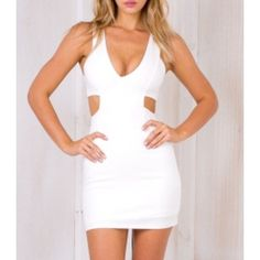 NWT Stelly Cut it Out Mini Dress in White Ordered from the AUS site Stelly! Size AUS8=US4✨Unfortunately it arrived too late and I couldn't wear it too my function☹️ no trades! Stelly Dresses Mini
