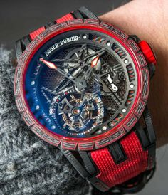 Hands-On article showing you the ins and outs of the new mainly carbon movement Roger Dubuis Excalibur Carbon Spider Watch, a limited edition of just 28 pieces, pushing the boundaries of carbon...  Read our review here: http://www.ablogtowatch.com/roger-dubuis-excalibur-carbon-spider-watch/ #sihhabtw
