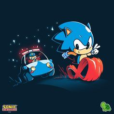 Get the blue official Sonic the Hedgehog t-shirt only at TeeTurtle! Exclusive graphic designs on super soft cotton tees. The Sonic, Sonic Art, Sonic The Hedgehog, Speeding Tickets, Classic Sonic, Nintendo Sega, Speed Of Sound, Donkey Kong, Nerd Geek
