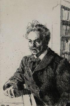 Anders Zorn, Strindberg etching. One day I will have one. One day. x
