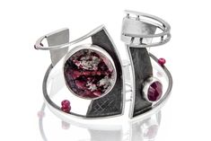 Tammy B. Jewelry, In the Know Cuff  Eudyalite, ruby, rubilite and sterling silver