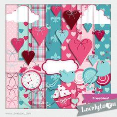 FREE Valentine's scrap pack from lovelytocu.com