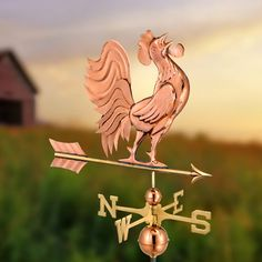 Antiques The Best Antique Iron Rustic Weather Vane Hummingbird Vintage Farmhouse Farm House Warm And Windproof