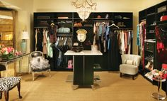 Closet with built-in mixologist's station