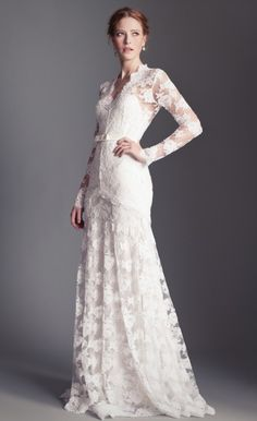 Guinevere Dress The Temperley Bridal Guinevere Dress is made using luxurious French lace with a silk lining that accentuates the floral design.
