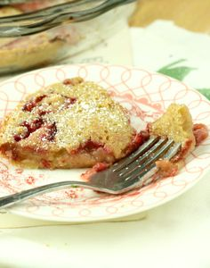 Strawberry Clafoutis--  a little under 50 calories per slice