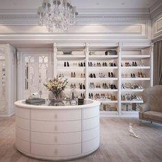 New luxury closet designs dressing rooms ideas Best Home Interior Design, Dream Home Design, Luxury Homes Interior, Luxury Home Decor, Walk In Closet Design, Closet Designs, Dream Closets, Dream Rooms, Open Closets