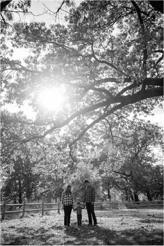 Family under tree with sun flare | black & white photography | Family Lifestyle Portrait Session | Kimberly Walker | Toronto Family Photography