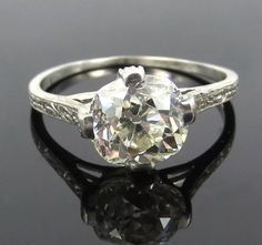 Liberal Flawless 1.35 Ct Solitaire Accented Diamond Ring Vs1 D 18k Yellow Gold Round Jewelry & Watches