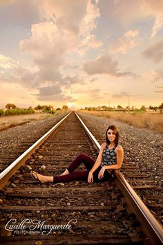 Love photographs on train tracks!! Photographer Lucille Marguerite Photography on Facebook. Makeup by True beauty by Jessica on Facebook.