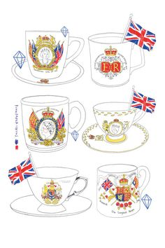 Royal Memorabilia // limited edition // print by PinkPaperCircus, £20.00