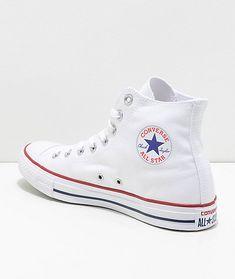 No high tops // Converse Chuck Taylor All Star White High Top Shoes All White Converse, Converse Shoes High Top, High Top Sneakers, All Star Shoes, Converse Chuck Taylor All Star, New Shoes, Women's Shoes, Shoes High Tops, Prom Shoes