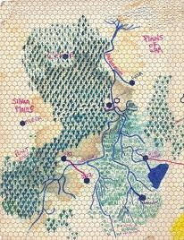 Map of Eastern Skone, Love the combination of highly structured grid paper with hand drawn and organic note making Architecture Mapping, Paper Architecture, Architecture Drawings, Flight Patterns, Landscape And Urbanism, Aerial Images, Beautiful Drawings, Mural Art, Illustrations