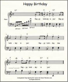 Intermediate Happy Birthday Sheet Music 43 Happy Birthday Free Sheet Music for Guitar Piano & Lead Easy Piano Sheet Music, Guitar Sheet Music, Free Sheet Music, Music Sheets, Happy Birthday Piano, Birthday Songs, Happy Birthday Music Notes, Piano Songs, Guitar Songs