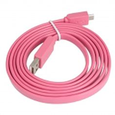 "myLife Carnation Pink {Solid Flat Noodle Design} 6' Feet (1.8 Meter) Quick Charge USB 2.0 Micro USB to USB Data Sync Cord for Phones, Cameras, Tablets and GPS Devices ""SEE COMPATIBILITY"" (Durable Rubber Coat) myLife Brand Products http://www.amazon.com/dp/B00O97DL5G/ref=cm_sw_r_pi_dp_tw.tub0WKYN7T"