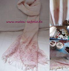 Schal komplett selbstgemacht