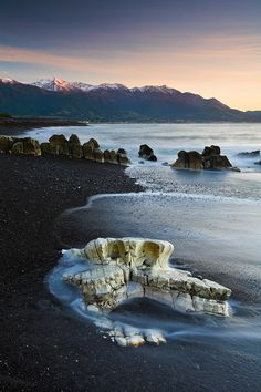 Skull Coast, Kaikoura Peninsula, New Zealand. New Zealand in general.